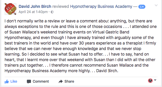 Testimonial from David Birch